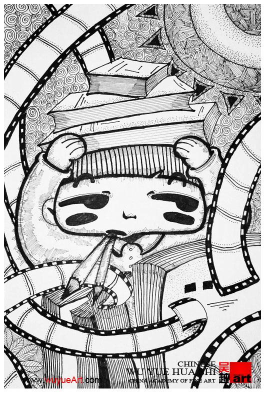 点线面装饰画_美术高考设计之黑白装饰画的应考秘籍_杭州吴越画室