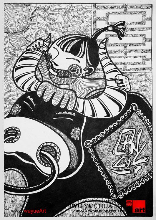 美术高考设计之黑白装饰画的应考秘籍图片