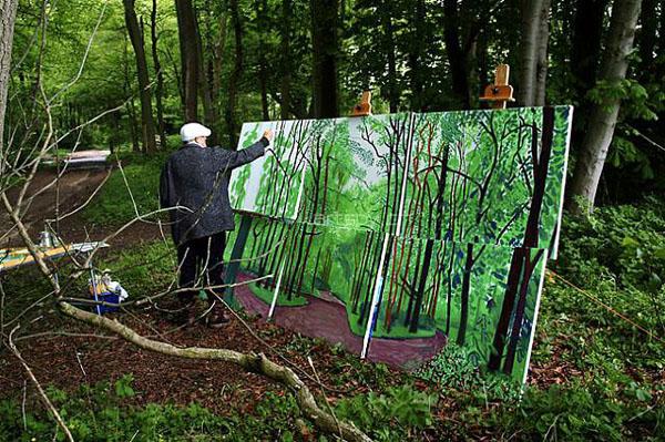 创建森林城市绘画作品图片图片