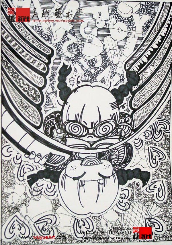 学生黑白装饰画设计作业