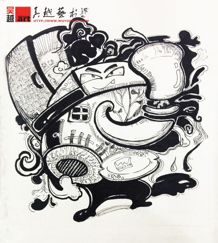 学生黑白装饰画设计