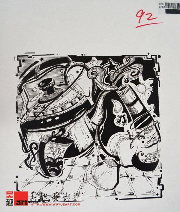 【川美优秀试卷】设计类装饰画2013年高分试卷