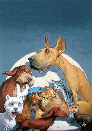 .f.payne的动物绘画