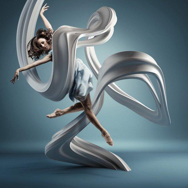 舞蹈画画艺术字体