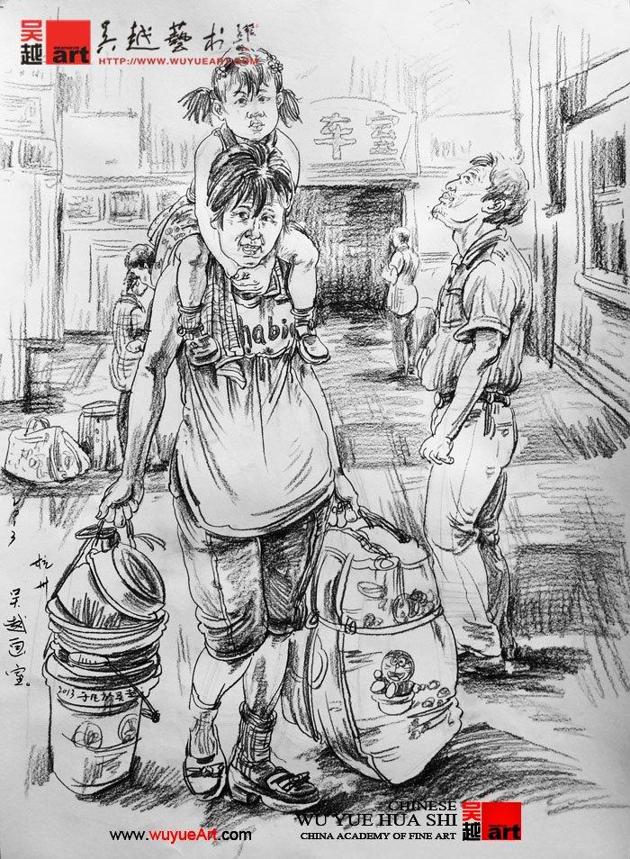 场景速写训练方法 杭州画室 杭州美术培训【杭州吴越