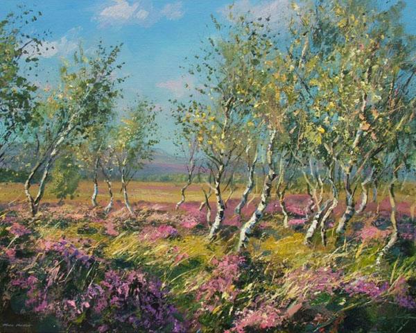 堪比油画的丙烯画 Mark Preston色彩风景作品