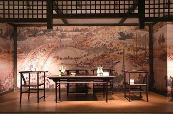 中式木楼梯图纹
