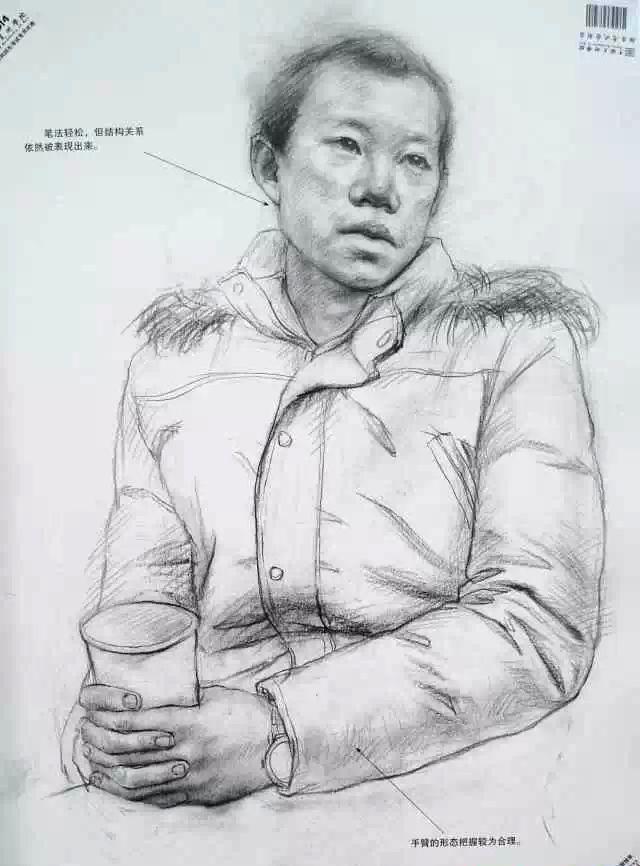 2014年中国美术学院素描 色彩 速写高分卷图片