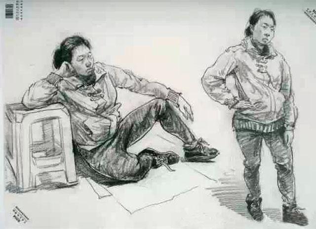 年中国美术学院素描 色彩 速写高分卷图片