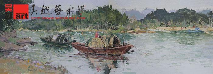 学生丽水下乡色彩风景写生作品