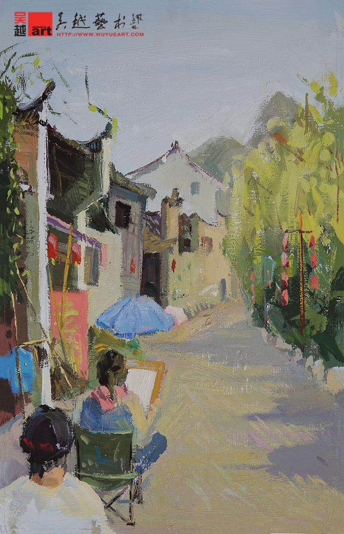 学生丽水下乡色彩风景写生作品|杭州画室|杭州美术