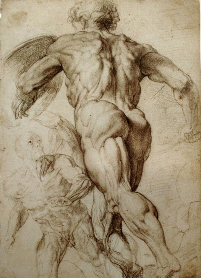 鲁本斯的石膏素描,结构表现杠杠的