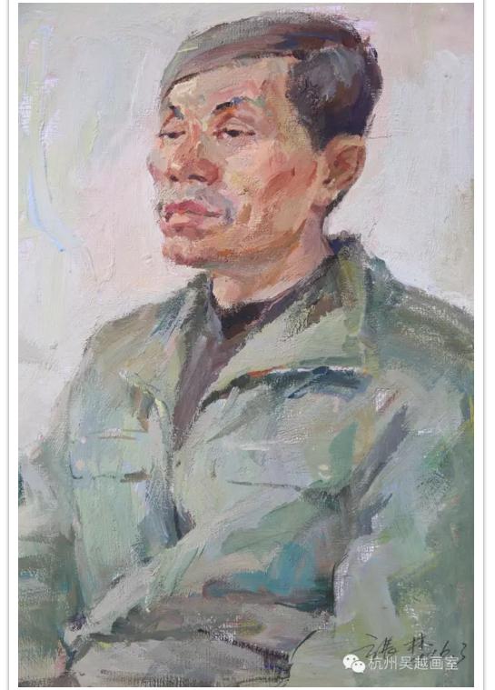 中年男子色彩肖像