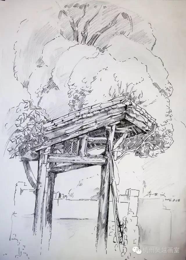 吴越下乡写生速写作品汇报——笔下的风景