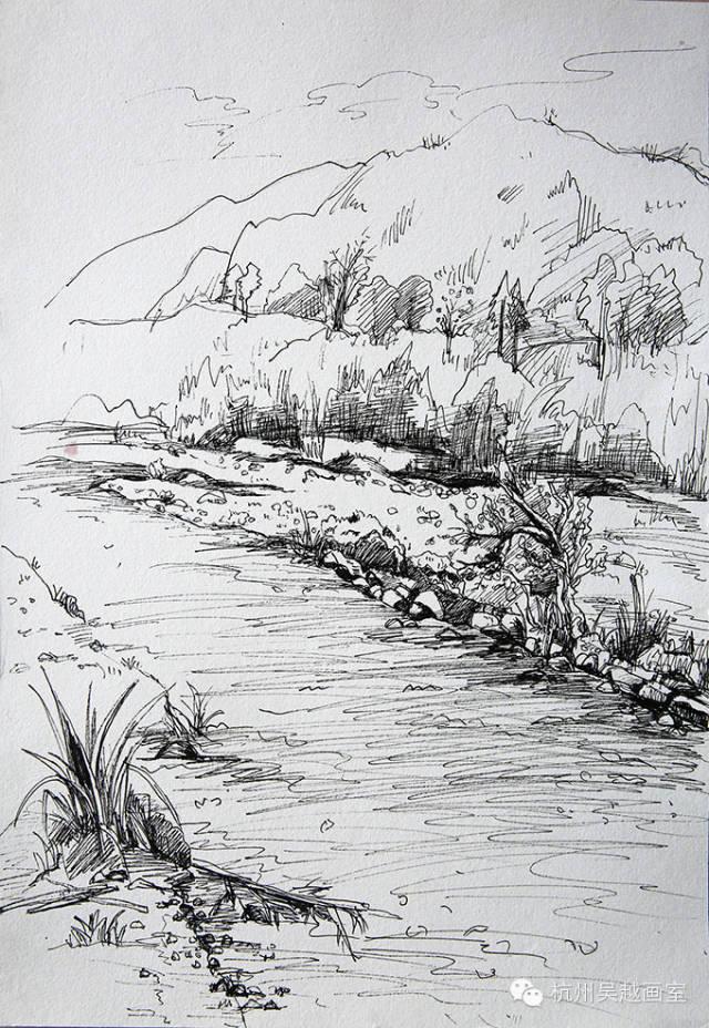 吴越下乡写生速写作品汇报——笔下的风景,心中的远方