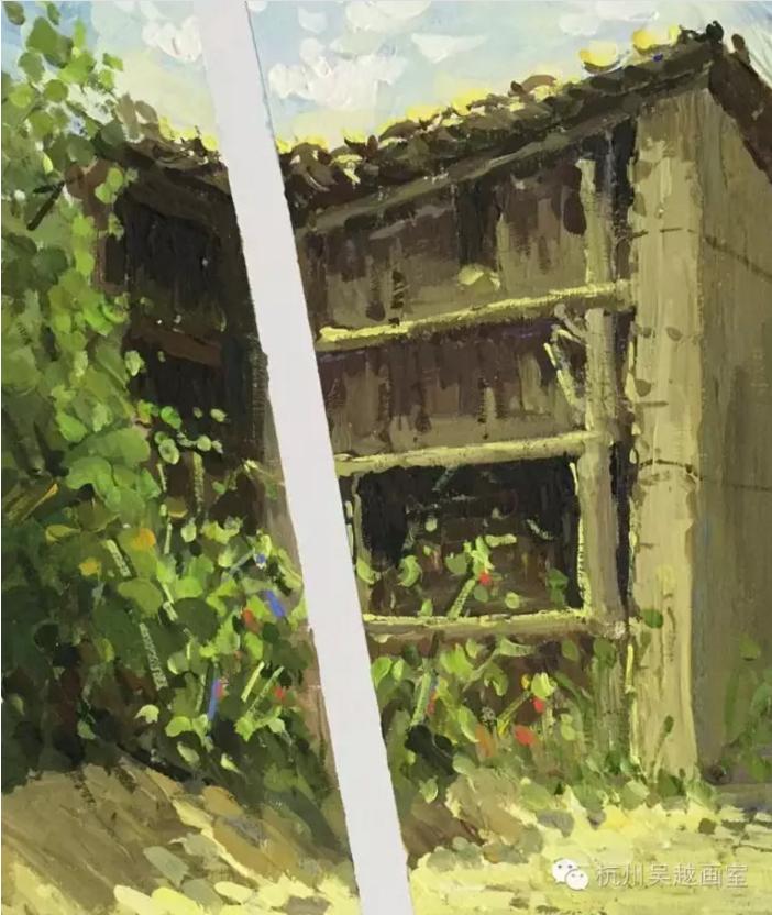 丽水下乡写生色彩作品汇报——《梦里水乡》(二)