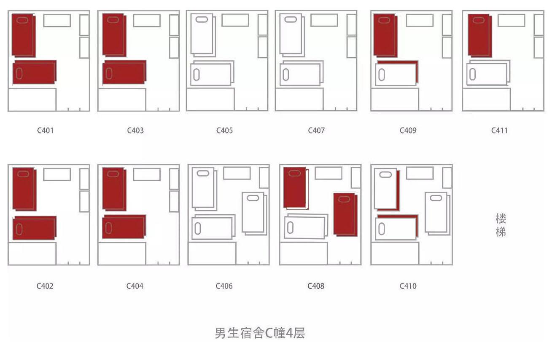 寝室五人间平面图