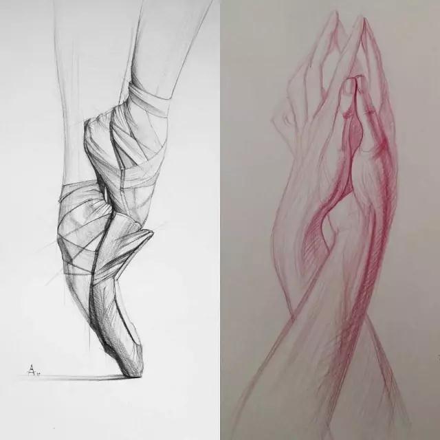 素描教学丨俄罗斯美术老师教你:以线带面,结构布局