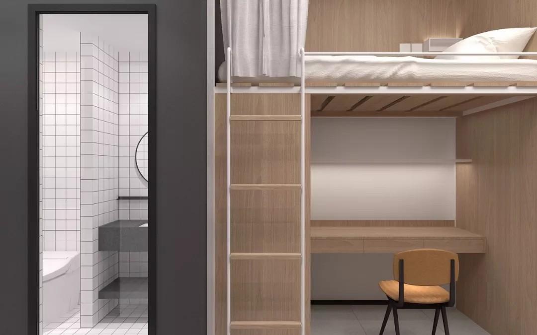 学生公寓四人间及卫生间配置
